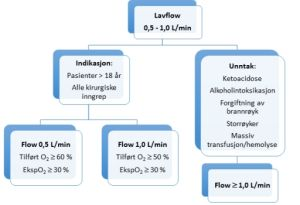 Low flow anestesi flytdiagram
